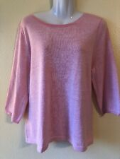 Gap Women's XL Pullover Sunbleach Shirt Pink Top