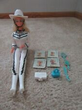 Vintage 1980 Western Stampin' Winking Barbie with Most Accessories