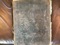 Rare 1892 Danks & Co office and family Atlas of the World, engraved maps, cities