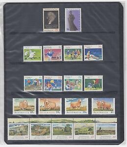 """1989 AUSTRALIA """"THE COMPLETE COLLECTION OF 1989 AUSTRALIAN STAMPS"""" FULL SET MNH"""