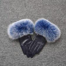 2018 New Women Genuine Leather Gloves Fox Fur Warm Winter Mittens Hot Sale 32002