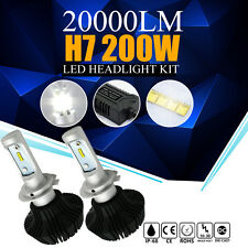 Pair H7 200W 20000LM CREE LED Headlight Kit Low Beam Head Light Bulbs 6500K Lamp