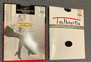 Lot if 2 Vintage Talbots Panty Hose Nylons Size B Navy Sheer Control Top