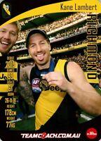 ✺New✺ 2019 RICHMOND TIGERS AFL Premiers Card KANE LAMBERT Teamcoach