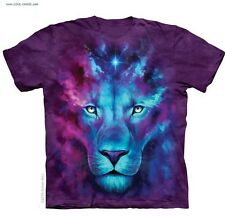 Blue Lion T-Shirt/Purple Tie Dye,Galaxy,Lions,Magical,Celestial,Cool Art Tee,