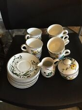 Villeroy & Boch Botanica 8 Cups And Saucers And Sugar And Creamer
