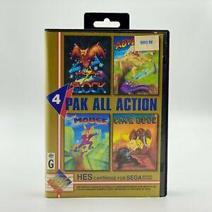 4 Pak All Action. Rare HES Australian Exclusive Sega Master System Cartridge.