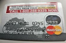 1 VINTAGE CREDIT CARD  2002  WELLS FARGO MASTER CHARGE UNSIGNED MINT