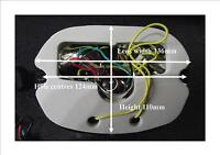 LED rear light and stop with integral indicators clear lens Harley sportster etc