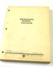 ALLEN BRADLEY 7320/40/60 INSTRUCTION MANUAL   (W-4-BOX 3-14-RCT)
