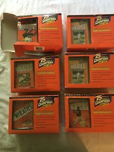 wheaties 75 years of champions Lot Of 6 Tiger Woods Jackie Robinson Babe Ruth