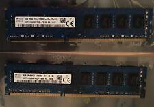 16GB (2x8GB) PC3-12800 Hynix Desktop RAM, DDR3, (HMT41GU6AFR8A-PB)