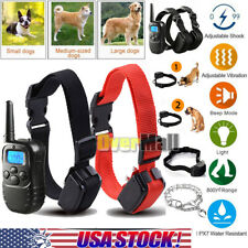 Dog Shock Training Collar Electric LCD Remote Control Waterproof 1000 Yards IP67