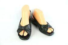 Sandals Rohde Black Leather T 38 Very Good Condition