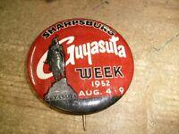 Rare Vintage Pin Pinback - 1952 Guyasuta Week - Sharpsburg Pa. Pittsburgh - Park