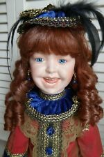 "Barbara Ota ""Rebecca"" Laughing Jumeau Red Hair Blue Eyes 18"" Porcelain Doll"