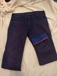 Mens True Religion Jeans  Size 33 - Straight Fit w/Purple-Dark Denim Rinse - New