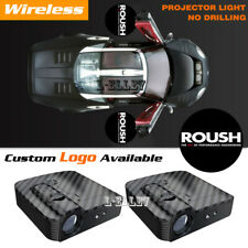 Wireless Roush Logo Car Door Courtesy Projector Ghost Shadow Light For Ford F150 Fits Focus