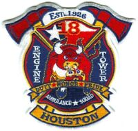 Houston Fire Department Station 18 Patch Texas TX