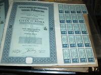 CONSORZIO CREDITO OPERE PUBBLICHE SERIE SPECIALE CITTA' ROMA 1 OBBLIGAZIONE 1937