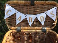 CARDS Banner/Bunting Rustic Handmade Wedding Birthday Party Garland Sign