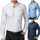 Formal Men's Luxury Casual Slim Fit Shirt Long Sleeve Dress Shirts TOPS S M L XL