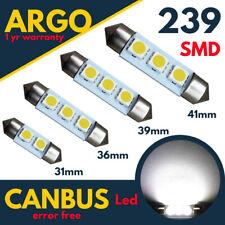 239 272 Number Plate C5w Led Festoon Xenon White Light Bulbs 31 36 39 41 mm 12v