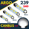 239 272 C5w Led Festoon Xenon White Light Bulbs 31 36 39 41 mm Number Plate 12v