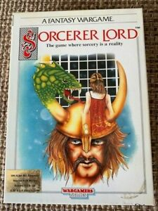 """Sorcerer Lord Big Box IBM-PC 5.25"""" and 3.5"""" floppies PSS 1988 Wargamers w/ map"""