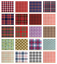 Ambesonne Plaid Fabric by the Yard Decorative Upholstery Home Accents