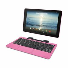 """RCA Viking Pro 10.1"""" 2-in-1 Tablet 32GB Quad Core Pink Laptop Computer NEW"""
