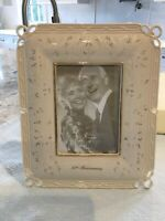 Lenox 50th Anniversary Picture Frame Floral Design Wedding Promises - New In Box