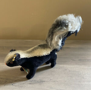 Vintage Steiff Skunk With Paper Tag and Button Ca 60's