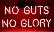 "No Guts No Glory Pink Neon Lamp Sign 14""x9"" Acrylic Bright Lighting Glass Bar D"