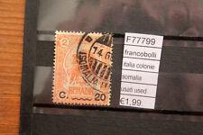 FRANCOBOLLI ITALIA COLONIE SOMALIA USATI USED (F77799)