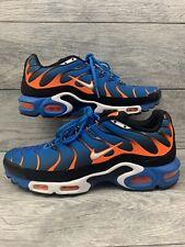 buy popular 30961 dc289 Nike Air Max Plus TN Mens Size 10.5 Photo Blue Orange White 852630-400
