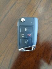 Genuine OEM GTI VW Remote Flip Key Keyless Entry Fob 4 Button Chrome 5G0959752BE