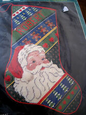 Bucilla Painted Christmas Holiday Needlepoint Stocking Kit,CHEERFUL SANTA,18""