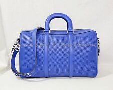 NWT! Michael Kors Libby Large Gym Bag in Electric Blue Perforated Leather