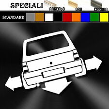 adesivo sticker fiat PANDA old sporting tuning down-out dub prespaziato,decal