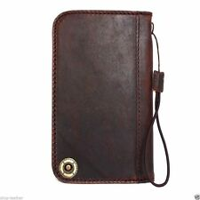 genuine leather Case For Samsung Galaxy Note II 2 3 book wallet handmade skin id
