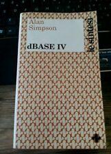 LIBRO DBASE IV ALAN SIMPSON LE SINTESI TECNICHE NUOVE 1990