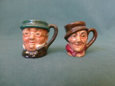 Two Vintage Royal Doulton Miniature Toby Mugs Sam Weller and Mr Pickwick
