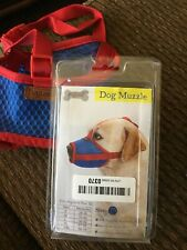 DogLemi Adjustable Mesh Dog Muzzle ~ Red/Blue ~ Xxl ~ Breathable ~ Strong & Soft