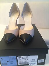 Chanel High Heels Ladys Shoes Size 39.5 Beige And Black $650