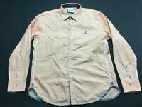 Robert Graham Mens Orange Plaid Front Pocket Button Front Shirt Size XL