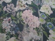 Designers Guild Fabric 'DELFT FLOWER' 3.5 METRES (350cm) GRAPHITE  100% Linen