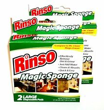 RINSO Magic Sponges 4 Large Disposable Pads 4.6 in x 2.4 in x 1.0 in New In Boxe