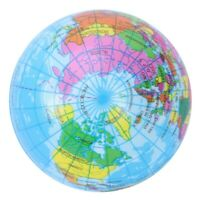 Mini Globe terrestre balle mousse anti-stress boule P9A4 1T