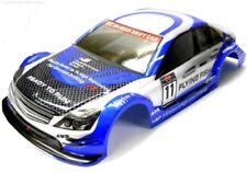 Carrosseries et habitacles bleus pour voiture et motocyclette radiocommandée 1/10 1:10